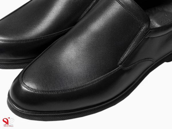 کفش اداری مردانه طبی و دارای پدخار پاشنه مدل نروژی