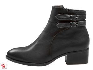 نیم بوت زنانه مدل فلورا مشکی - کفش سی سی