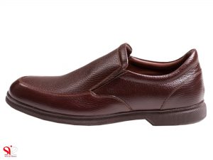 کفش مردانه چرم مدل نروژی رنگ قهوه ای