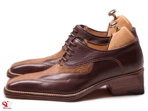 مدل خاص کفش مجلسی مردانه لئوناردو تمام دست دوز چرمی
