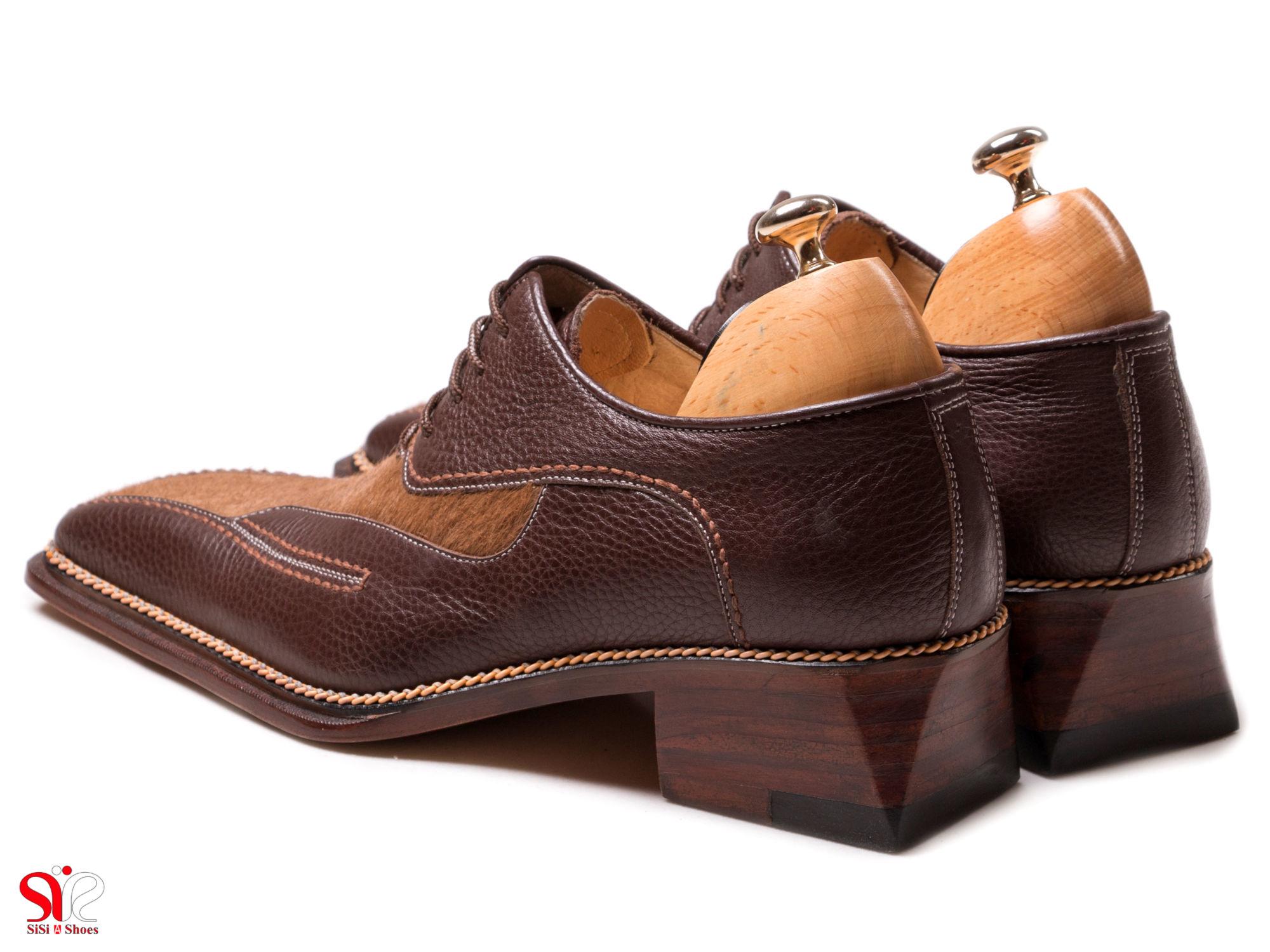 کفش مجلسی مردانه با پاشنه 5 سانتی متر بلند
