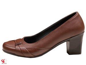 کفش زنانه با پاشنه 6 سانتی برای اداره مدل آنیل قهوه ای