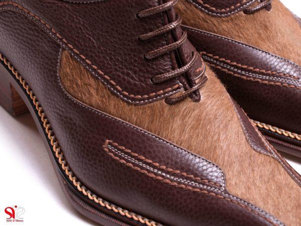 استفاده از پوست طبیعی برای تولید کفش مردانه مجلسی مدل لئوناردو