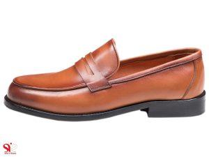 کفش مردانه کالج مدل گوجی رنگ عسلی