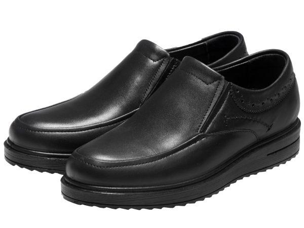 عکس مدل کفش پرسنلی اداری مردانه رنگ مشکی هوگو