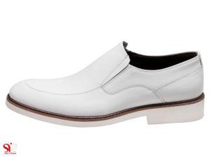 کفش دامادی رنگ سفید مدل فابی