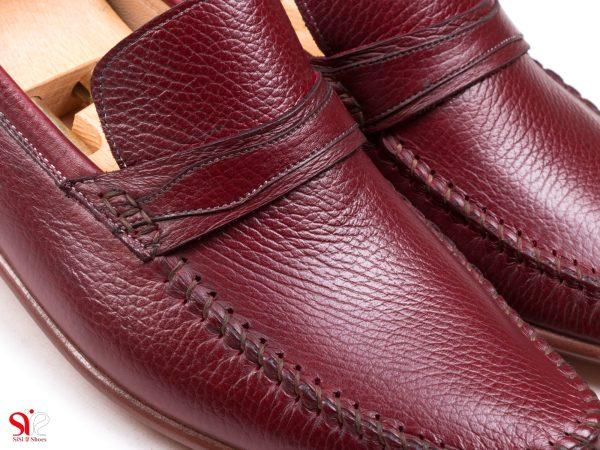 رویه نرم و سبک کفش کالج ماکاسین رنگ زرشکی