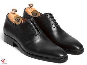 عکس کفش مجلسی مردانه یکپارچه مدل راینو رنگ مشکس