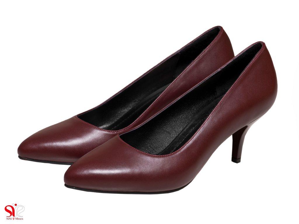 مدل کفش مجسلی زنانه مدل سوفیا رنگ زرشکی