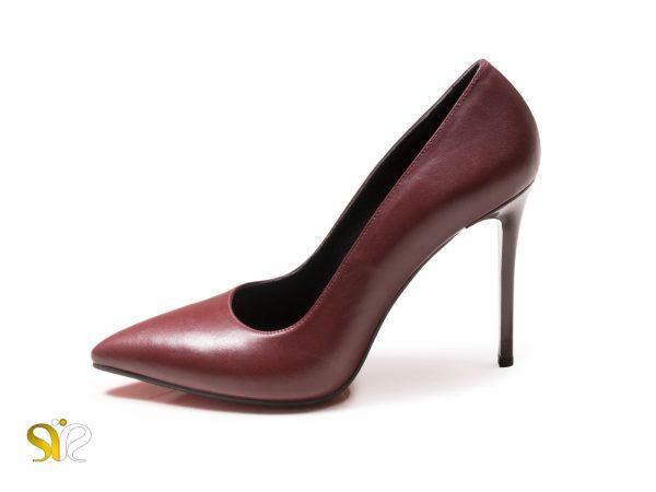 کفش مجلسی زنانه مدل ماریا رنگ زرشکی ساده