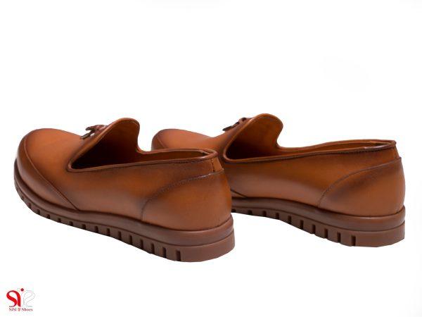 پاشنه 2 سانتی متری کفش راحتی زنانه مندل سلنا عسلی