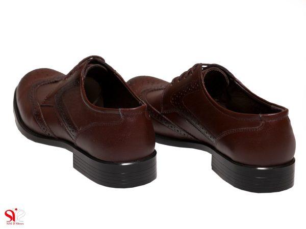 پاشنه 2.8 سانتی متری کفش کلاسیک مردانه مدل ادوارد قهوه ای