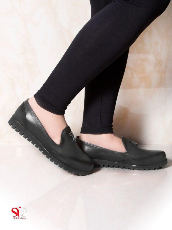 کفش راحت طبی زنانه مدل سلنا مشکی سی سی