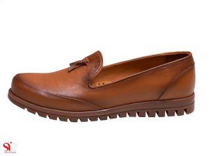 کفش زنانه مدل سلنا رنگ عسلی - کفش سی سی تبریز