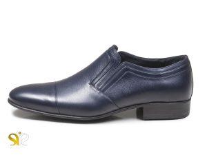 کفش شیک مردانه رنگ سرمه ای روشن مدل رویال