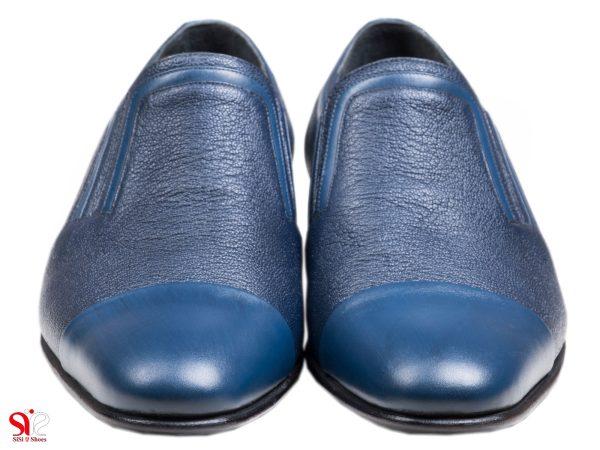 کفش مجلسی مردانه رنگ آبی سرمه ای مدل رویال