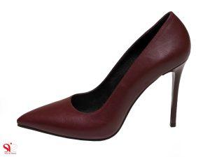 کفش پاشنه بلند زنانه مدل ماریا رنگ زرشکی سی سی