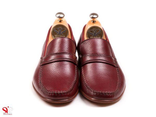 زرشکیرویه نرم و سبک کفش کالج مردانه ماکاسین رنگ