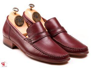 کفش کالج مردانه مدل ماکاسین رنگ عسلی