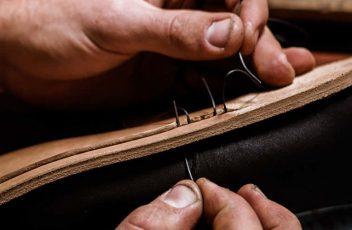 آموزش تصویری دوخت کفش چرم دست دوز تبریز