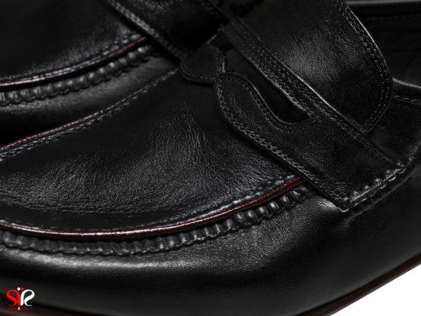 رویه چرم نرم گاوی برای مدل کفش کلاسیک کالج فانتوفی رنگ مشکی