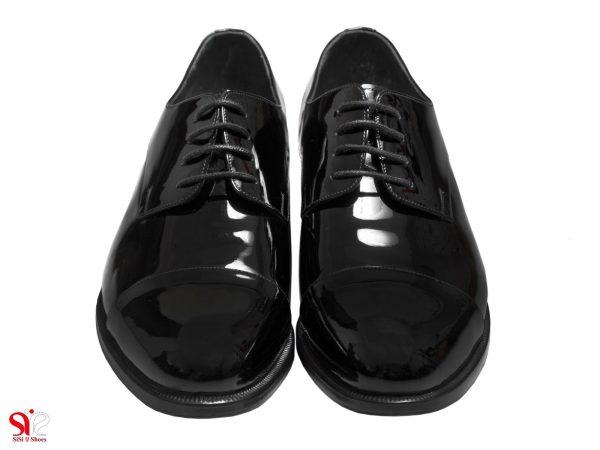 رویه چرم ورنی کفش مردانه مدل لیون - کفش چرم تبریز
