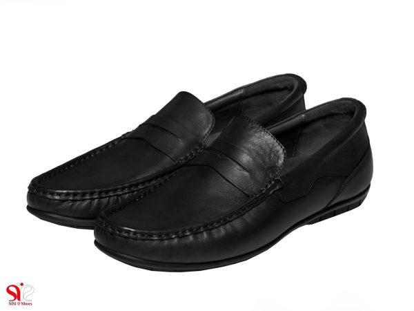 عکس مدل کفش کالج مردانه شانلی رنگ مشکی
