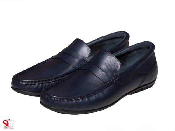عکس مدل کفش کالج پسرانه رنگ سرمه ای شانلی