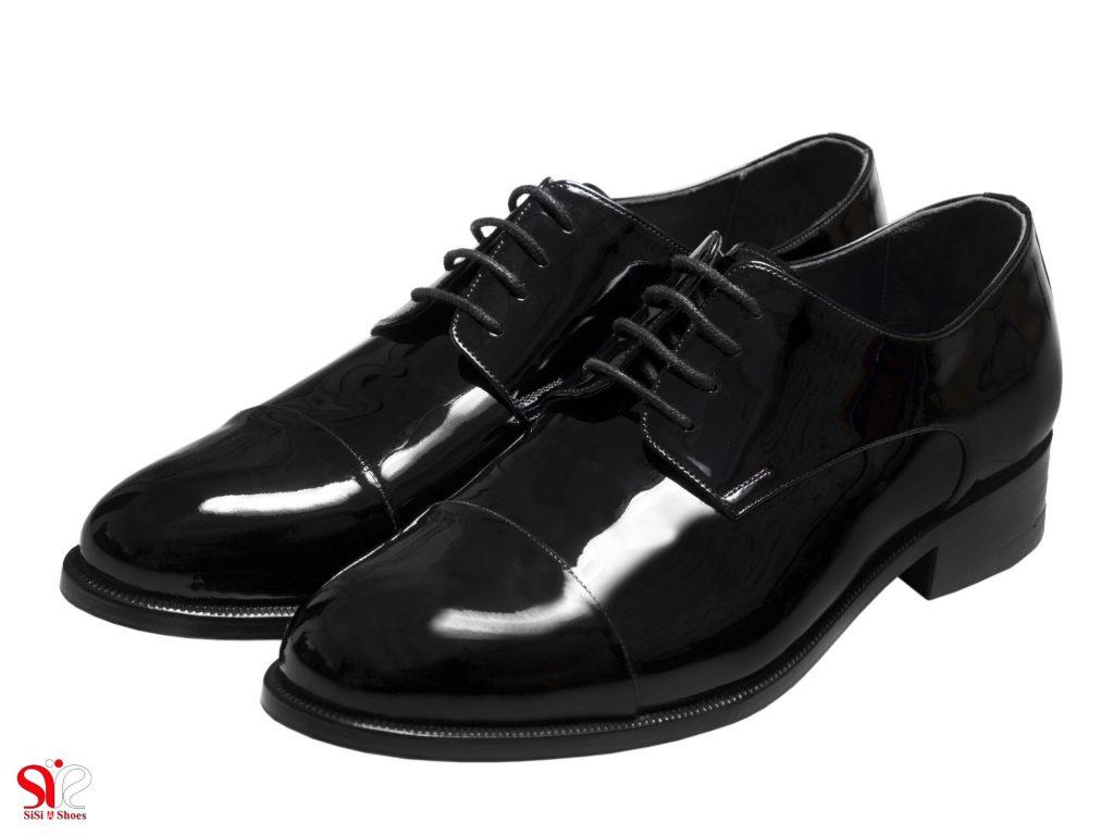 عکس کفش مردانه مجلسی ورنی براق مدل لیون سی سی