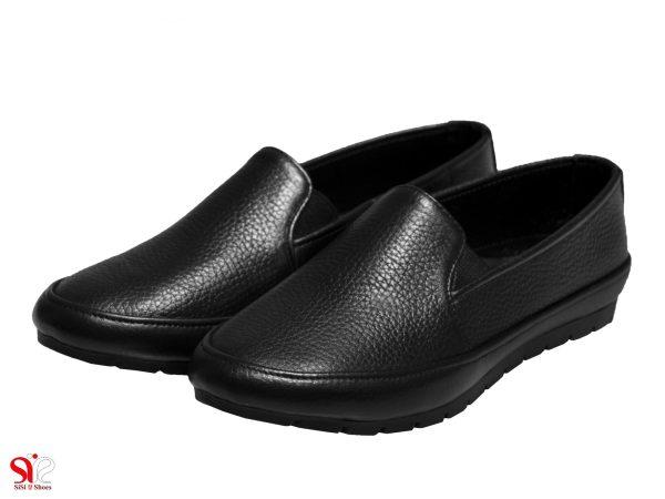 مدل کفش تخت زنانه طبی یاس رنگ مشکی