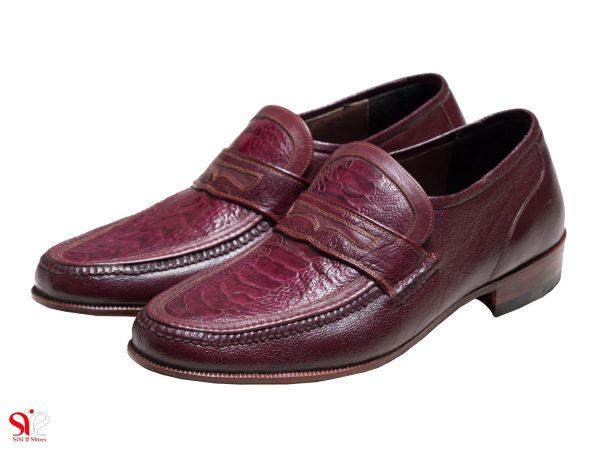 مدل کفش راحتی چرمی مدل فانتوفی رنگ زرشکی