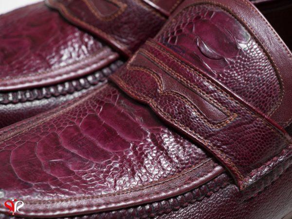 چرم زرشکی کفش مدل فانتوفی سی سی
