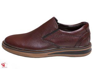 کفش طبی مردانه مدل تایماز رنگ قهوه ای با پد خارپاشنه