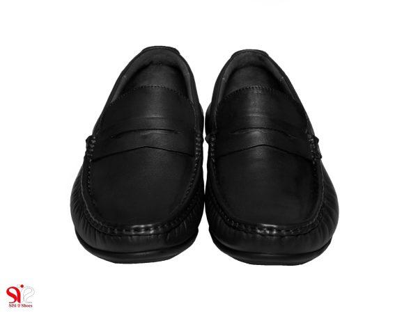 کفش کالج پسرانه چرمی مدل شانلی رنگ مشکی