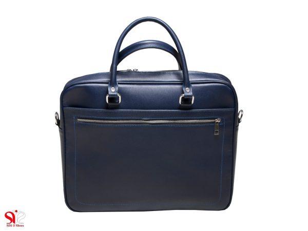 کیف لپ تاپ چرمی مدل شانل رنگ سرمه ای