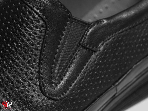 رویه چرم طبیعی رنگ مشکی کفش زنانه طبی مدل چینار سی سی