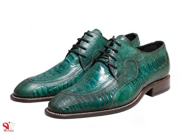عکس مدل کفش خاص چرمی ویتو رنگ یشمی
