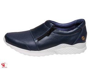 مدل کفش اسپرت دخترانه رنگ سرمه ای مدل سزل سی سی