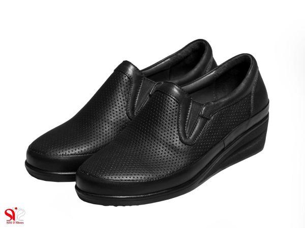 مدل کفش طبی زنانه با زیره نرم و کفی طبی مدل چینار سی سی رنگ مشکی