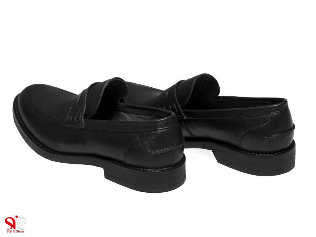 پاشنه 3 سانتی متری کفش مردانه اداری مدل دیاکو مشکی