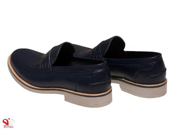 کفش مردانه اداری با زیره رابر مدل دیاکو رنگ سرمه ای