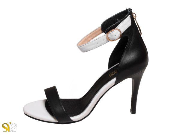 کفش زنانه مدل سایدا رنک سفید و مشکی
