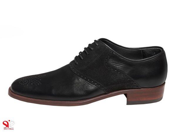 کفش مردانه مدل ارجمند رنگ مشکی جیر