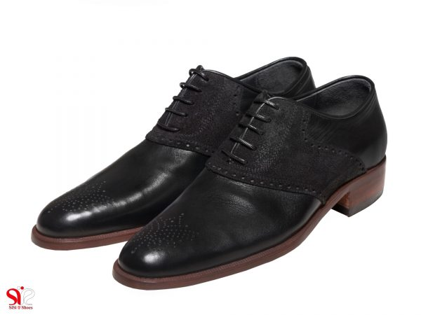 کفش مردانه مدل ارجمند سی سی رنگ مشکی جیر