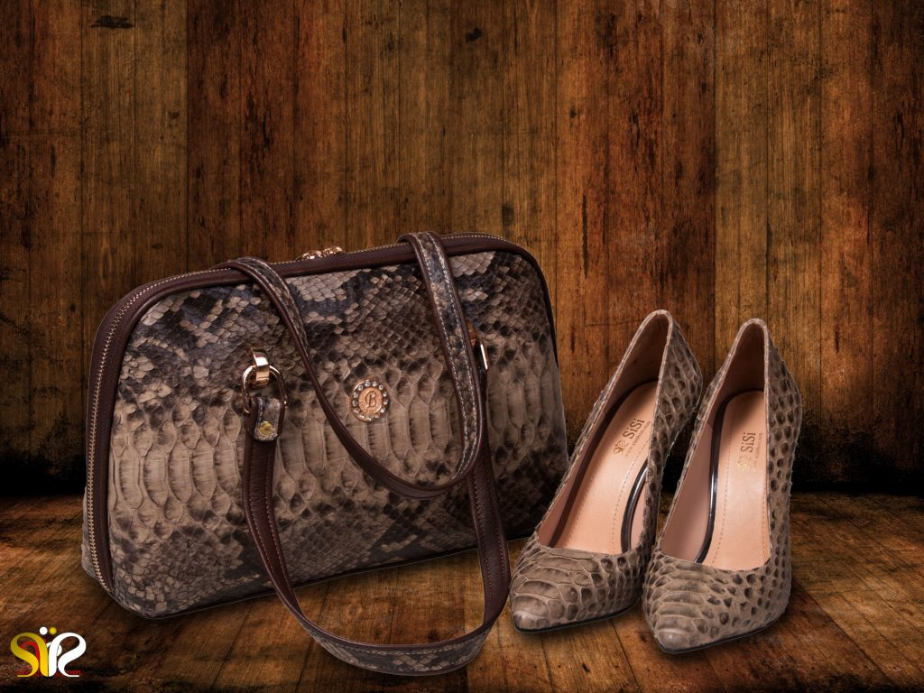 ست کیف و کفش مجلسی زنانه پوست ماری مدل جاستینی و رمان