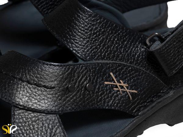 صندل مردانه تابستانی رنگ مشکی رکابی مدل لافت - کفش سی سی