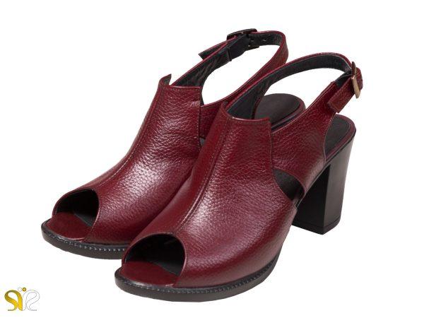 عکس مدل کفش زنانه مایلین سی سی رنگ زرشکی