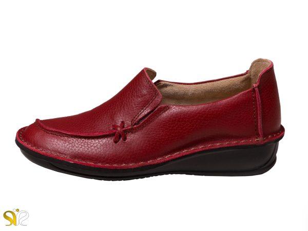 عکس کفش طبی زنانه رنگ قرمز مدل مرسده - کفش تبریز
