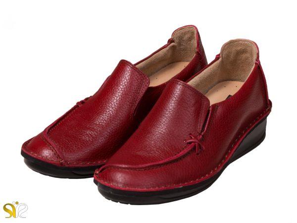 مدل کفش طبی دخترانه رنگ قرمز مرسده - کفش قرمز