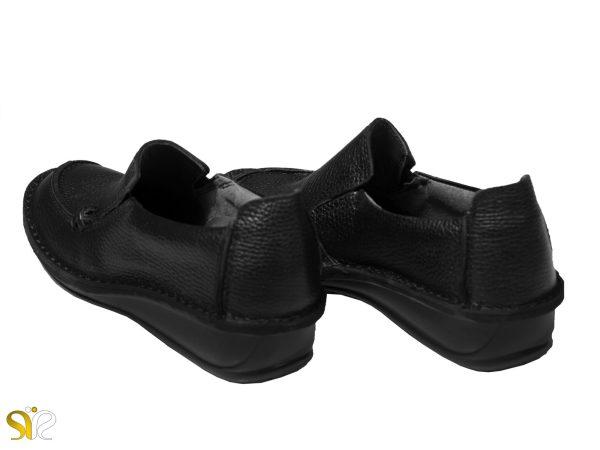 پاشنه ۳.۵ سانتیم تری کفش طبی زنانه مدل مرسده مشکی